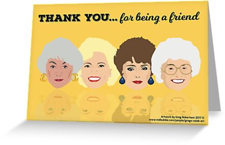 golden girls thank you for being a friend greeting card greeting