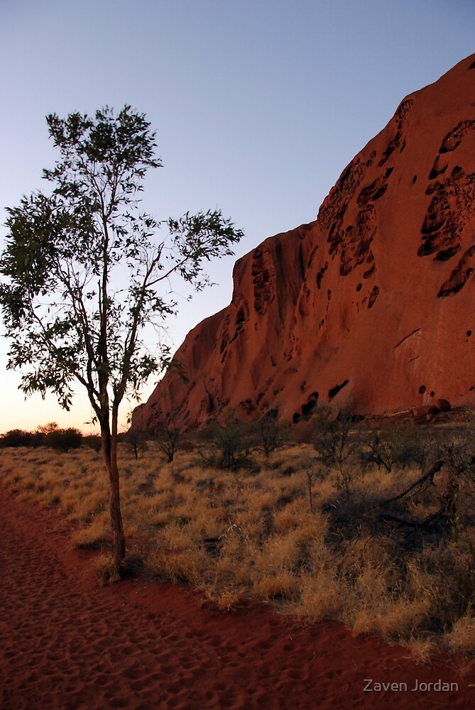 Uluru and the Lonely Tree by Zaven Jordan