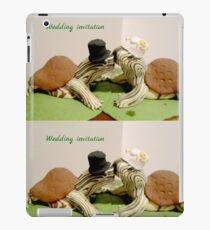 Wedding invitation. Turtle quirky wedding invitation  iPad Case/Skin