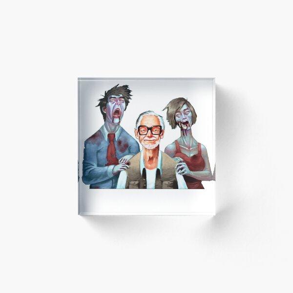 George Romero and zombie company Acrylic Block