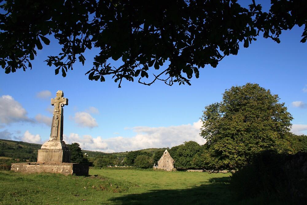 Celtic Cross at Dysert o Dea by John Quinn