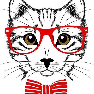 Hipster Cat by Gamerama