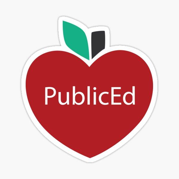 I Love Public Ed Sticker