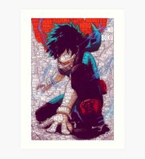 Izuku Midoriya - Boku no Hero Academia | My Hero Academia Art Print