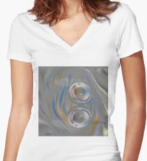 A Pair Women's Fitted V-Neck T-Shirt