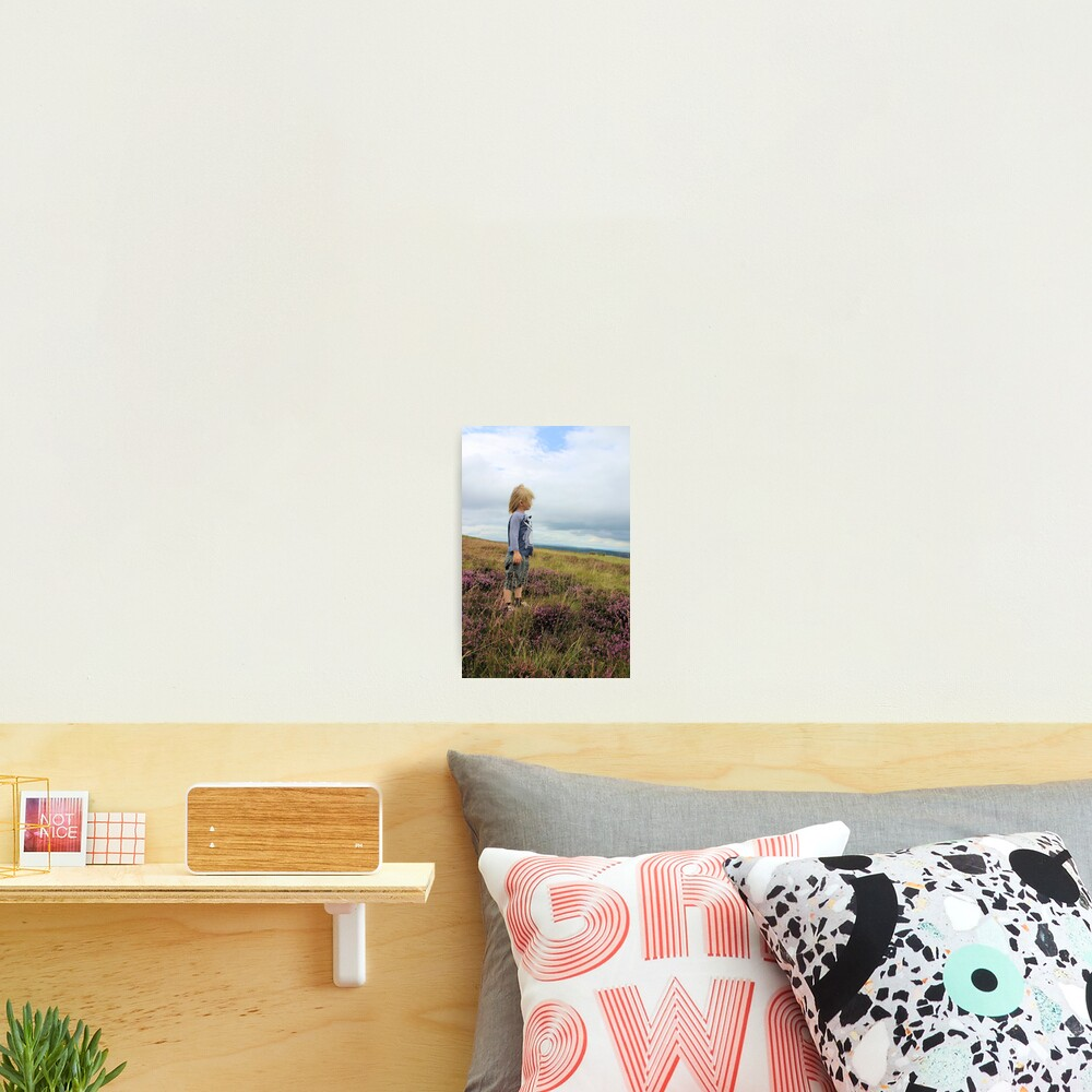 Looking out over the heather Photographic Print