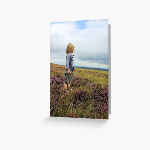 Looking out over the heather Greeting Card