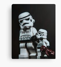 A Stormtrooper Father Son Moment Canvas Print