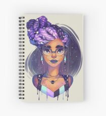 Goddess Braids Spiral Notebook