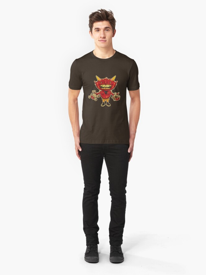 Alternate view of Teddy In Hell Slim Fit T-Shirt
