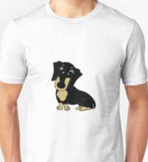 dachshund black and tan cartoon T-Shirt