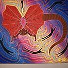 Frill Lizard Dreaming by Derek Trayner
