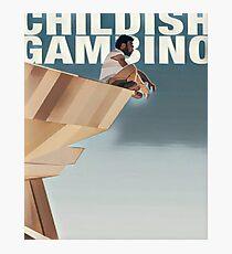 Childish Gambino - Abstract Cliff-face Artwork Photographic Print