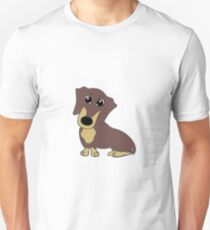 dachshund chocolate and tan cartoon T-Shirt