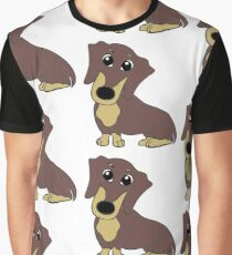 dachshund chocolate and tan cartoon Graphic T-Shirt