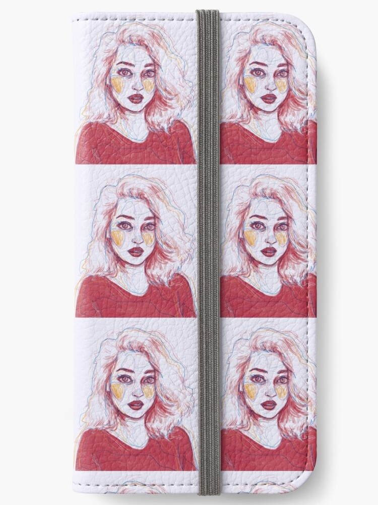 Tumblr Art Girl Pencil Drawing Iphone Wallets By Queenvvivy Redbubble