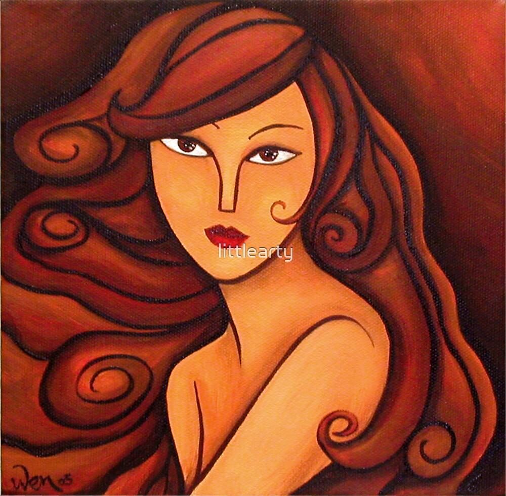 Brunette by littlearty
