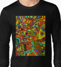 Beautiful, decorative, psychedelic hippie background. T-Shirt