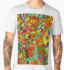 Beautiful, decorative, psychedelic hippie background. Men's Premium T-Shirt
