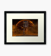 AT-AT Sunset Framed Print