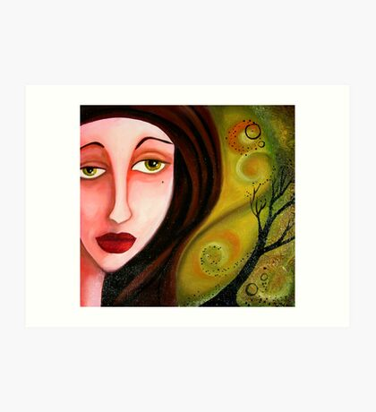 Whispers in Her Eyes Art Print