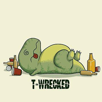 T-Wrecked by AlanBaoArt