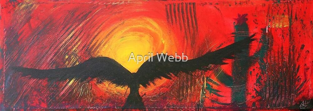 Black Crow Flies to Sun by April Webb