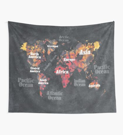 world map 113 #map #worldmap Wall Tapestry
