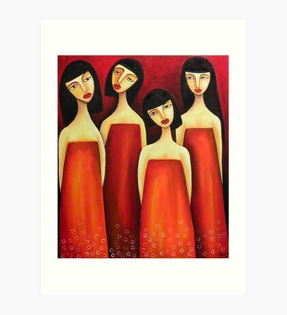 Sarong Party Girls Art Print