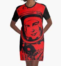Cosmonaut Valentina Tereshkova Graphic T-Shirt Dress