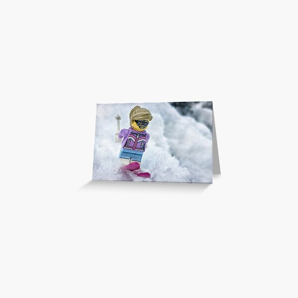 Down Hill Skier Greeting Card