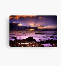 Blowhole Sunset Canvas Print