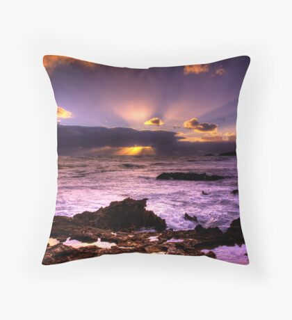 Blowhole Sunset Throw Pillow