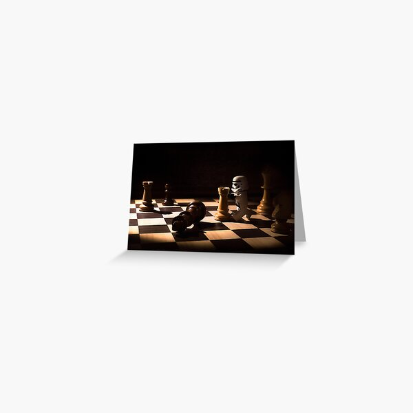 Lego Chess Greeting Card