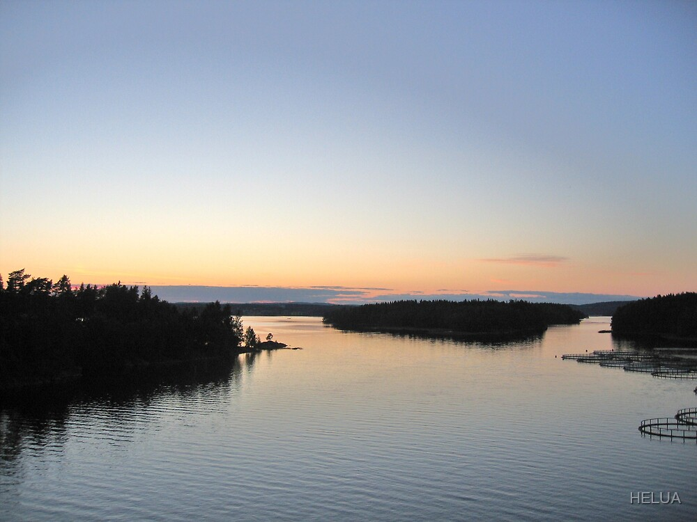 Sunset in Värmland by HELUA