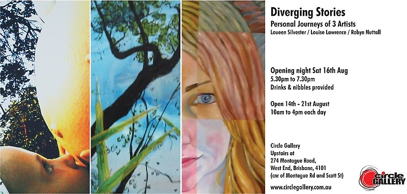 Diverging Stories  Flier by Gina Nuttall by robyn nuttall