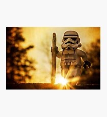 Hiking Stormtrooper Photographic Print