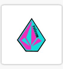 Volcom LOGO rosa / blaugrün Sticker