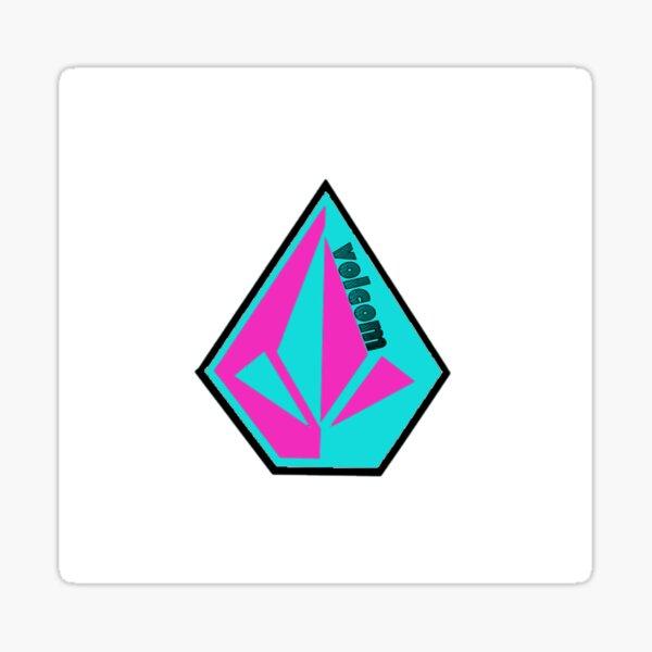 Volcom LOGO rose / turquoise Sticker