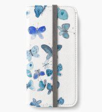 Blue butterflies  iPhone Wallet