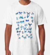 Blaue Schmetterlinge Longshirt