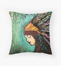 Splendid Gypsy Warrior  Throw Pillow