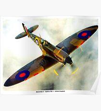 SPITFIRE : Vintage Second World War Fighter Plane Poster