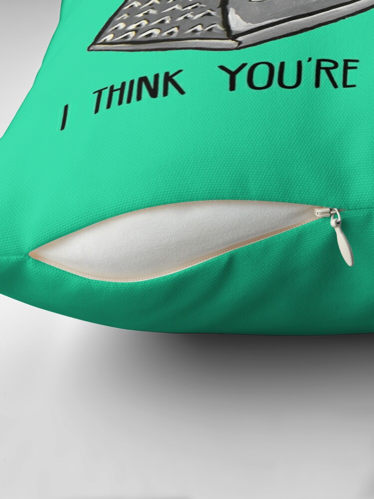 Alternate view of This might sound cheesy - Food Pun Throw Pillow