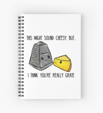 This might sound cheesy - Food Pun Spiral Notebook