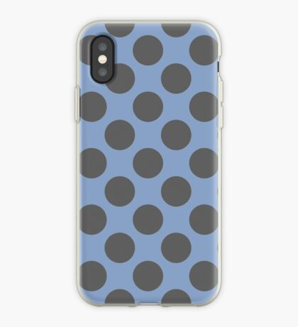 Blue and Grey Polka Dots iPhone Case