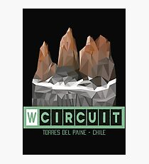 W Circuit - Torres del Paine National Park Patagonia Chile Photographic Print