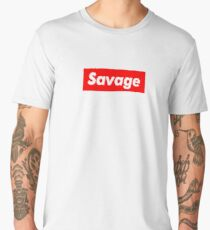 "Supreme Box Logo - ""Savage Supreme"" Men's Premium T-Shirt"