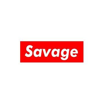 """Supreme Box Logo - """"Savage Supreme"""" by OsteoporosisGFX"""