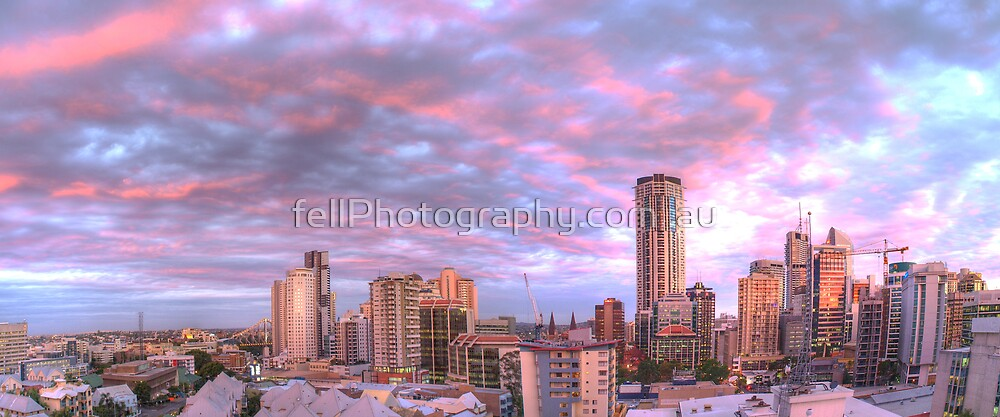 Brisbane City - Sunset  - HDR by fellPhotography.com .au